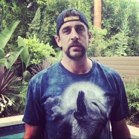Aaron Rodgers Stands with Wolves