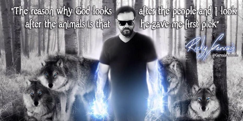Ricky Gervais and Wolves