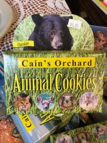 Cain's Orchard Animal Cookies